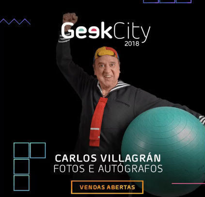 Geek City 2018 terá meet and greet com Carlos Villagrán, o Kiko